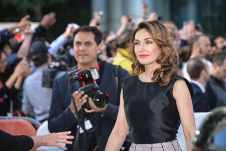 TORONTO - SEPTEMBER 5  Cast member Carice van Houten arrives for the premiere of the film The Fifth Estate at the 38th Toronto International Film Festival on September 5, 2013  The movie is based on the true-life story of WikiLeaks founder Julian Assange