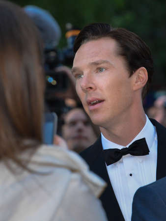 TORONTO - SEPTEMBER 5  Cast member Benedict Cumberbatch arrives for the premiere of The Fifth Estate at the 38th Toronto International Film Festival on September 5, 2013  The movie is based on the true-life story of WikiLeaks founder Julian Assange