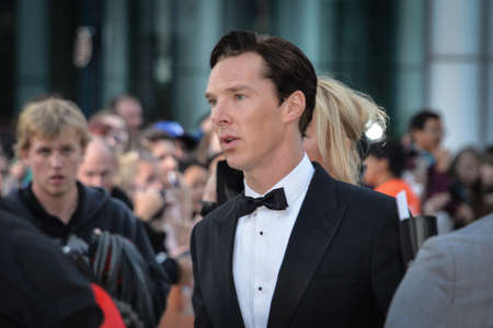 TORONTO - SEPTEMBER 5: Cast member Benedict Cumberbatch arrives for the premiere of The Fifth Estate at the 38th Toronto International Film Festival on September 5, 2013. The movie is based on the true-life story of WikiLeaks founder Julian Assange.