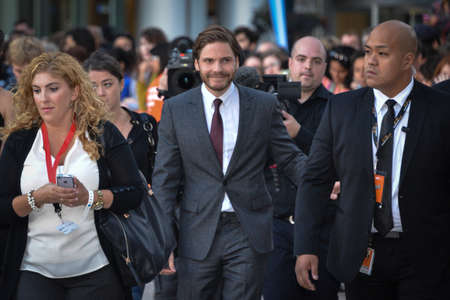 TORONTO - SEPTEMBER 5: Cast member Daniel Brühl arrives for the premiere of the film The Fifth Estate at the 38th Toronto International Film Festival on September 5, 2013. The movie is based on the true-life story of WikiLeaks founder Julian Assange. Editorial