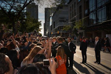 TORONTO - SEPTEMBER 6: Brad Pitt meets fans at the Toronto International Film Festival for his new film 12 Years a Slave on September 6, 2013.