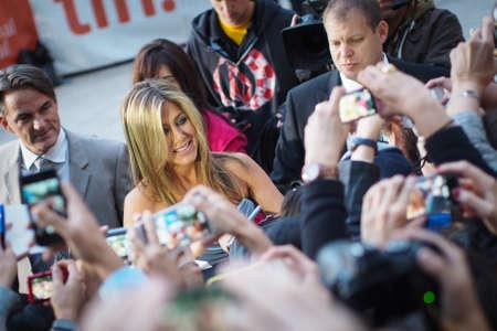 TORONTO - SEPTEMBER 14  Jennifer Aniston arrives at the Toronto International Film Festival for her new film Life of Crime on September 14, 2013  Editorial