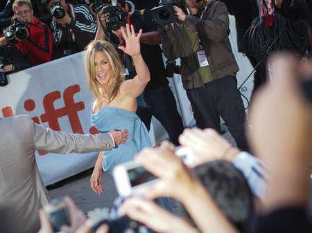 arrives: TORONTO - SEPTEMBER 14  Jennifer Aniston arrives at the Toronto International Film Festival for her new film Life of Crime on September 14, 2013  Editorial