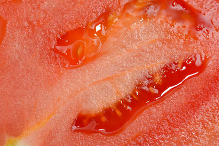 Closeup of transverse of tomato
