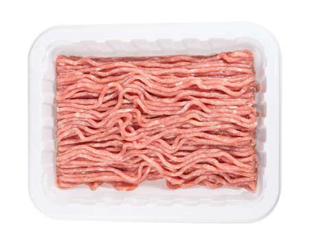 carne picada: Envasado de pollo molida