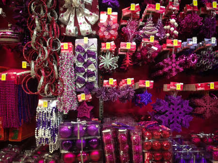 TORONTO - NOVEMBER 15: Christmas ornaments go for sale at the Canadian Tire in Toronto, Canada on November 15, 2013.