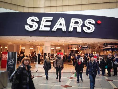 TORONTO - NOVEMBER 15: Customers visit the Sears at the Eaton Centre  in Toronto, Canada on November 15, 2013.