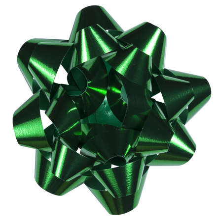 Green bow  clipping path included