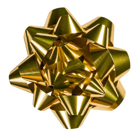 Golden bow  clipping path included