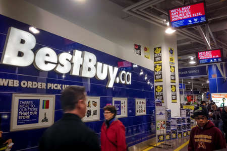 TORONTO - NOVEMBER 29  Customers visit the Best Buy in Toronto, Canada on the Black Friday, November 29, 2013