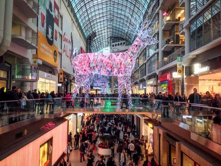 TORONTO - NOVEMBER 29  Shoppers visit the mall in Toronto, Canada on the Black Friday, November 29, 2013