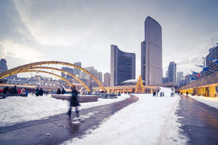 Nathan Phillips Square in Toronto, Canada Editorial