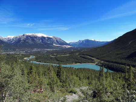 canmore: View of Canmore, Alberta, Canada. Stock Photo