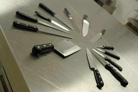 Set of professional kitchen knives Stock Photo - 714375
