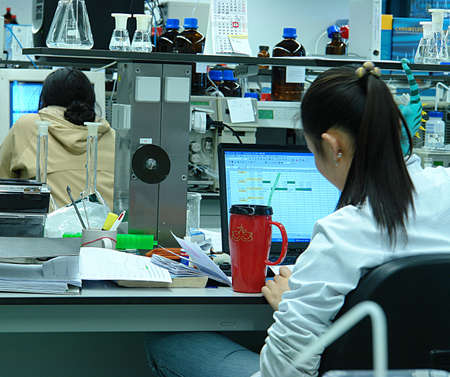 Students in the laboratory Stock Photo - 800964