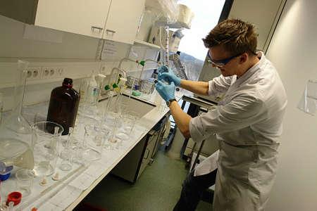 Scientist Professor going crazy! Stock Photo - 801038