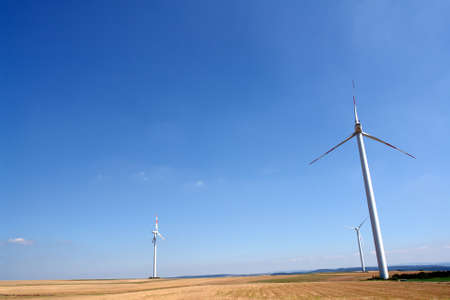 Wind turbines generating healthy environmentally green energy