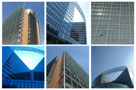 Collage of different corporate buildings