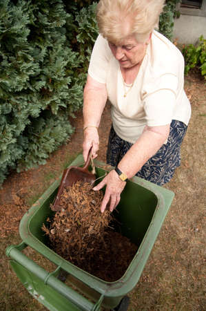 Senior woman with a passion for gardening working in her lovely garden Stock Photo - 5530628