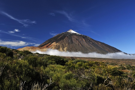 Snow-covered peak of Teide, Tenerife photo