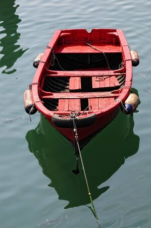 Old rowing boat photo