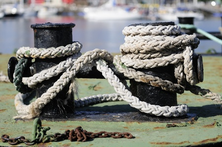 Rope of the boat photo