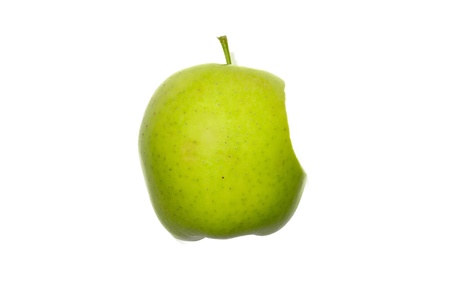 nibble: Apple on white background