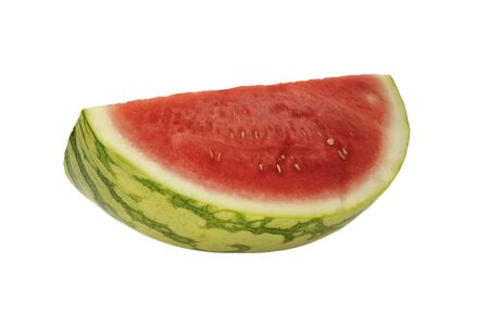 Slice of fresh ripe watermelon on a white background Stock Photo - 10380144