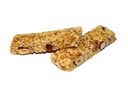 merenda: Barrette di cereali per una dieta sana ed equilibrata Archivio Fotografico