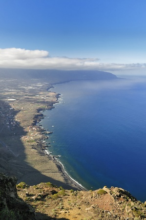 Coastline of the island of Hierro in the Canary Islands photo
