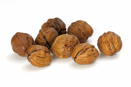 Group of walnuts isolated on a white background  photo
