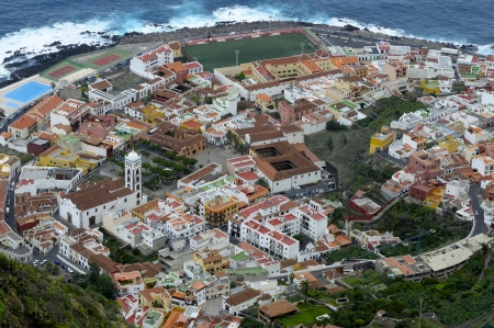 Aerial view of Town Garachico, Canary Island Tenerife, Spain photo