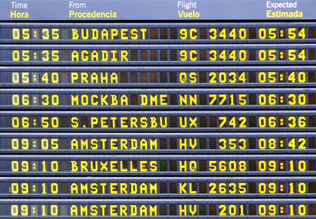 onboard: electronic board at the airport