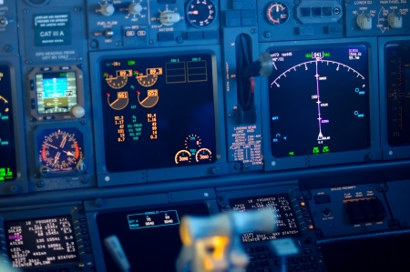 Vliegtuig Instruments primary flight display