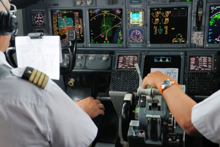 pilot cockpit: Airplane Instruments primary flight display