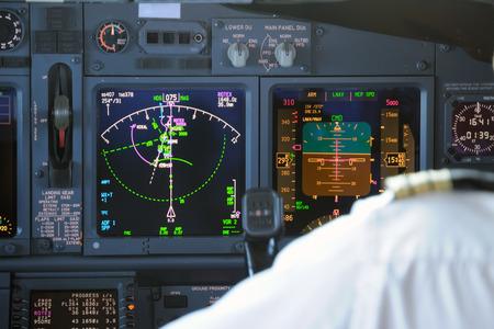 Airplane Instruments primary flight display photo