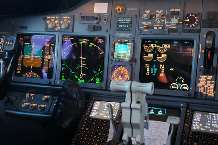 cockpit: Airplane Instruments primary flight display