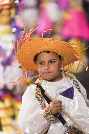 TENERIFE, FEBRUARY 25: Carnival groups and costumed characters, parade through the streets of the city. FEBRUARY 25, Tenerife (Canary Islands) Spain.