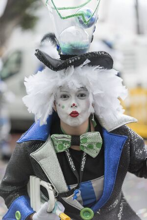 TENERIFE, FEBRUARY 28: Groups in the Carnival the Santa Cruz de Tenerife during different contests and grand parade of carnival groups FEBRUARY 28, 2017 Tenerife (Canary Islands) Spain