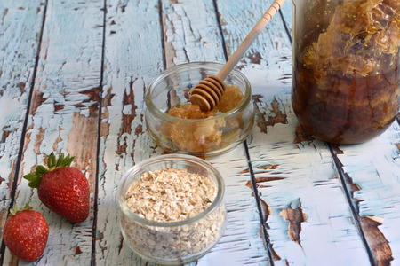 Natural and healthy breakfast foods Stock Photo