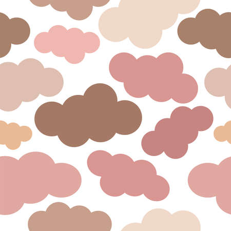 Abstract background. Seamless vector pattern. Pink pastel shades clouds on a transparent background Illustration