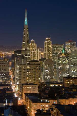 transamerica: San Francisco at night Stock Photo