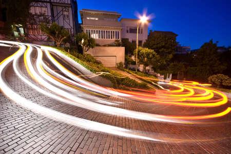 Lombard street, San Francisco at night photo
