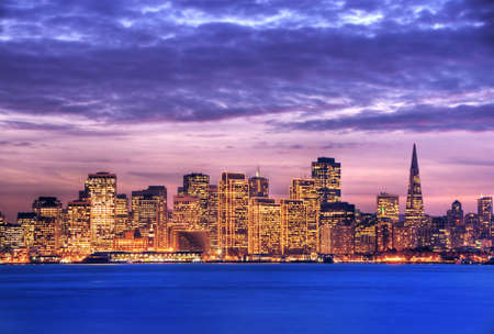 An image of San Francisco taken from the Treasure island. This image is processed with