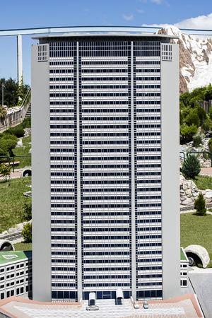 pirelli: Miniature of Pirelli Tower Skyscraper Milan in Italy