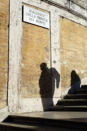 spagna: Human Shadows on spanish steps piazza di Spagna Rome Italy