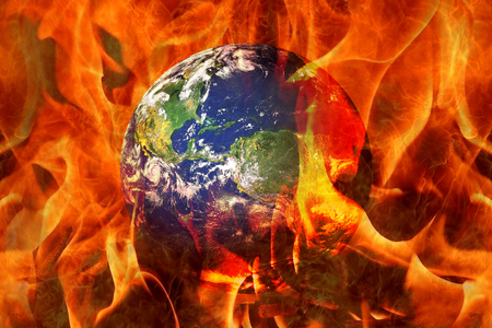 apocalyptic: Planet Earth End Burning in an apocalyptic scenario