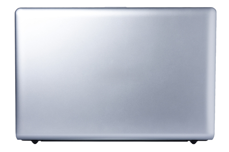 Back view isolated laptop