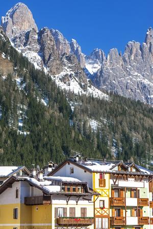San Martino di Castrozza in Italy in winter Stock fotó