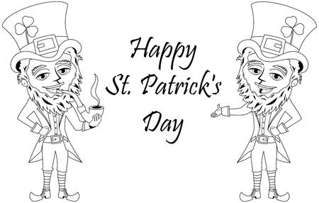 St. Patrick O San Patricio S Cara Con El Sombrero De Copa Y El ...